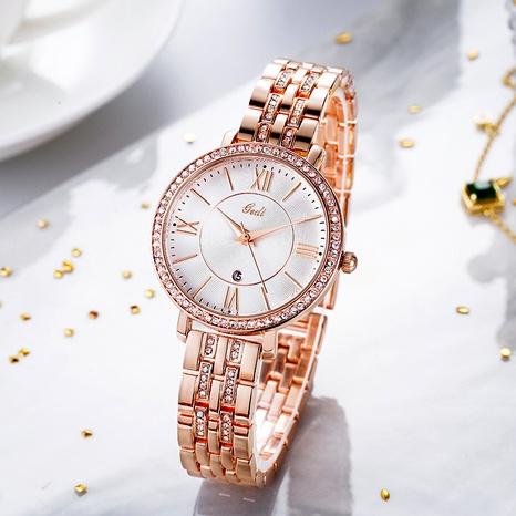 Diamond-studded Steel Band Waterproof Watch  NHSR285367's discount tags