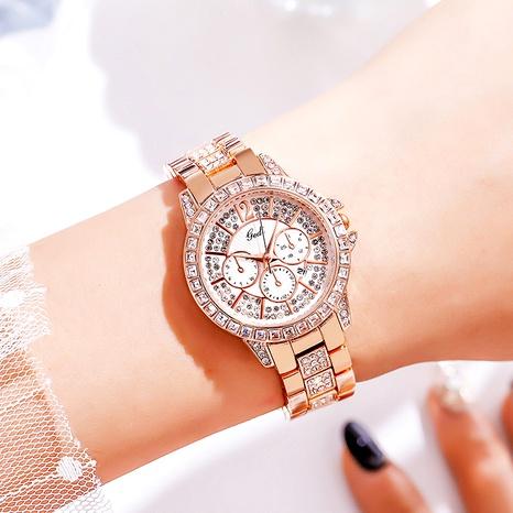 rhinestone fashion steel belt waterproof quartz watch NHSR285369's discount tags