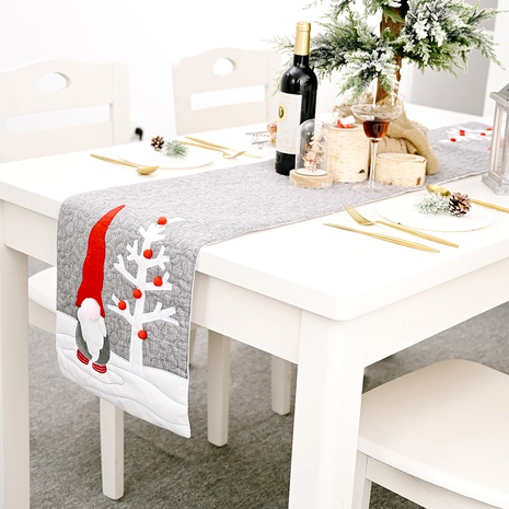 Christmas decorations faceless doll gray tablecloth NHHB285389's discount tags