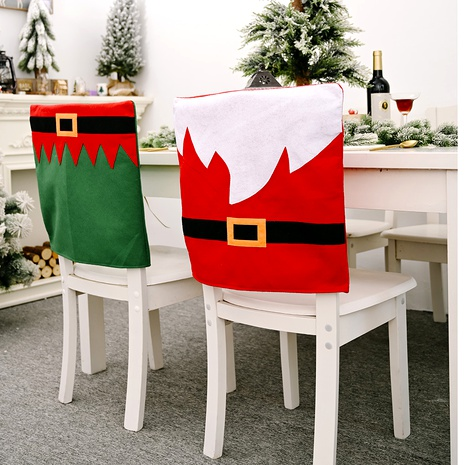 Christmas red green chair cover NHHB285395's discount tags