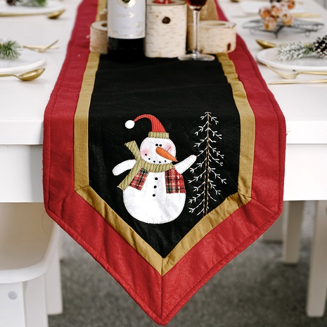 Christmas decorations red and black snowman tablecloth  NHHB285397's discount tags