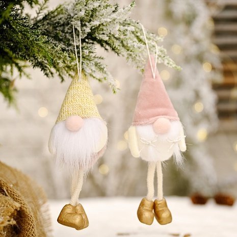 Christmas decoration flannel faceless doll hanging leg pendant  NHHB285403's discount tags