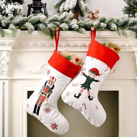 Christmas Decorations Red and White Socks Gift Bag NHHB285407's discount tags