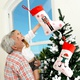 Christmas Decorations Red and White Socks Gift Bag NHHB285407
