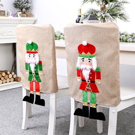 Décorations de Noël Housse de chaise soldat en noyer NHHB285411's discount tags