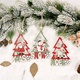 Christmas Decorations Wooden Tree Frame Cartoon Pendant NHHB285412