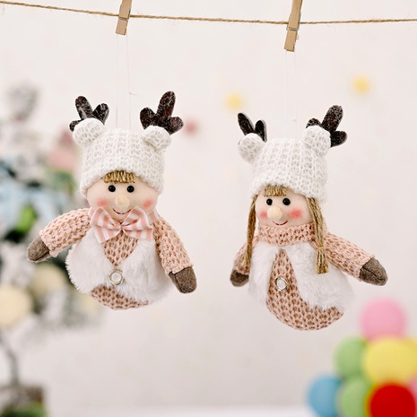 Christmas Tree Decorations Antlers Child Knitted Pendant  NHHB285419's discount tags
