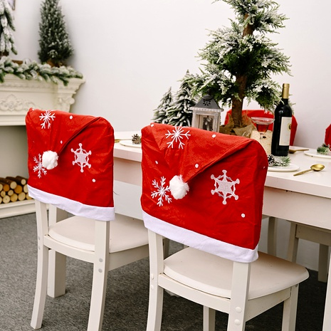 Christmas Decoration Snowflake Red Chair Cover  NHHB285420's discount tags