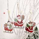 decoracin creativa colgante de madera vieja de dibujos animados NHHB285422