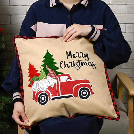 Christmas Ornaments Imitation Linen Pillowcase NHHB285430's discount tags