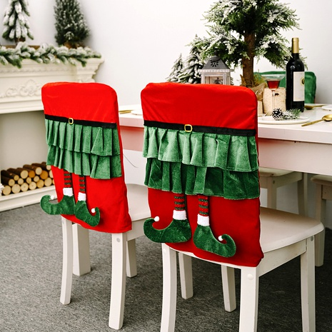 Christmas Decoration Elf Skirt Hanging Leg Chair Cover NHHB285431's discount tags