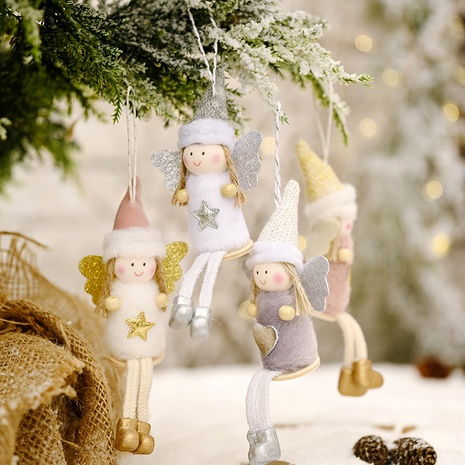 Christmas Ornament Sitting Posture Hanging Leg Angel Doll Pendant  NHHB285434's discount tags