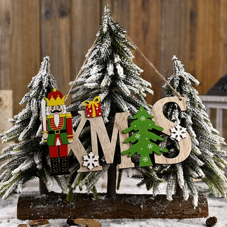 Christmas Decorations Wooden Walnut Soldier Letter Card Pendant  NHHB285436's discount tags