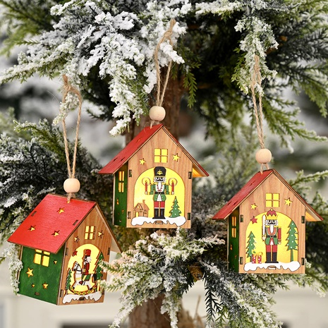 Christmas Ornaments Wooden Walnut Soldiers Hut Pendant NHHB285447's discount tags