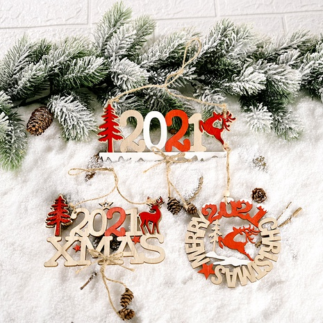 Christmas Decoration Letter Card Wooden Pendant NHHB285449's discount tags