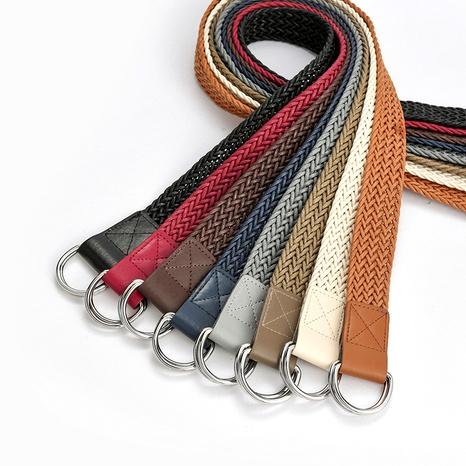 cinturón retro trenzado con doble hebilla NHPO285473's discount tags