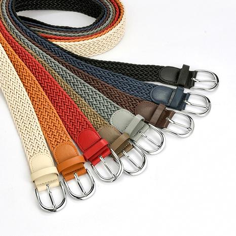 cinturón de hebilla retro de giro de moda NHPO285474's discount tags