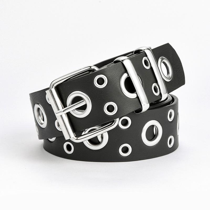 punk fashion buckle full hole belt NHPO285475