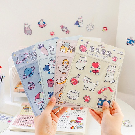 cartoon cute mobile phone water cup pvc waterproof stickers NHZE285545's discount tags