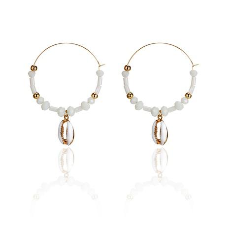 runde Ohrringe aus böhmischer natürlicher Muschellegierung NHGY285646's discount tags