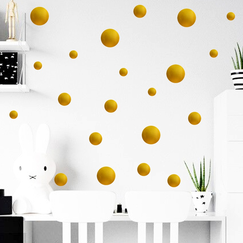 simple solid color dot wall stickers  NHAF285556