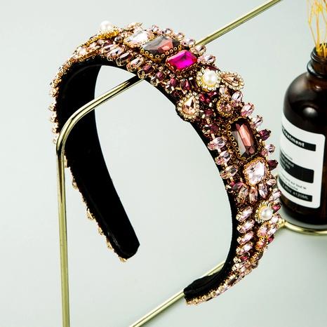 diadema de cristal de franela de perlas de diamantes de imitación de moda NHLN285593's discount tags