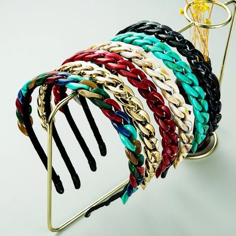 simple braid thin side headband  NHLN285596's discount tags