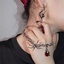 gem simple twisted irregular earrings NHYQ285604