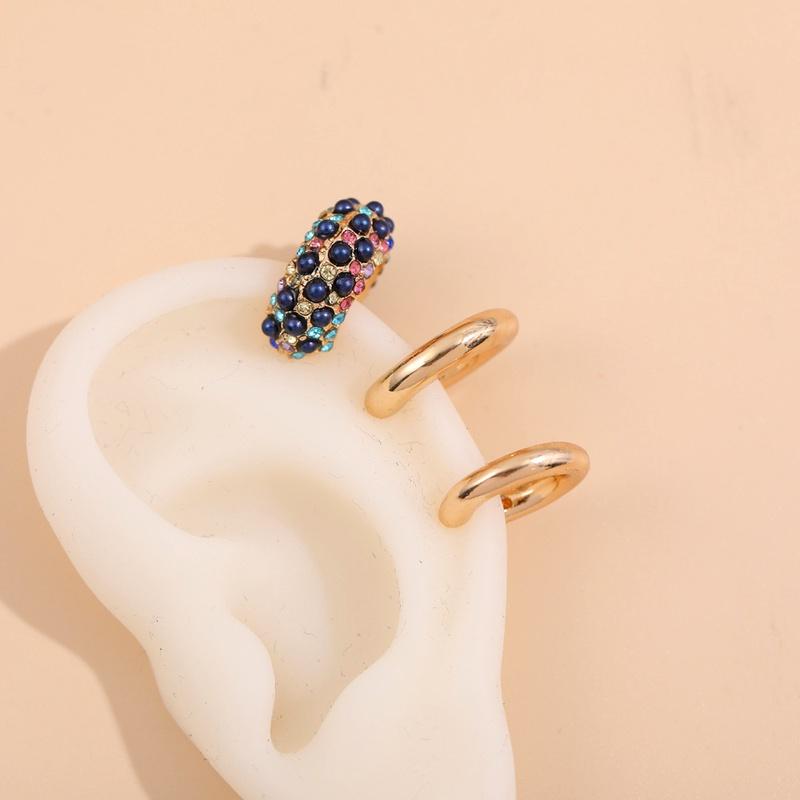 metal C-shaped fashion earrings  NHLL285632