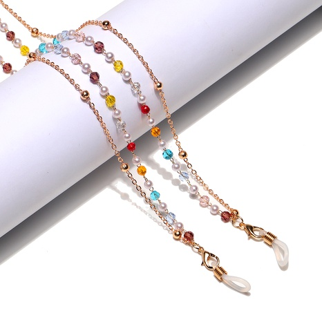 bunte Kristallclip Perlen Brillenkette NHBC285502's discount tags