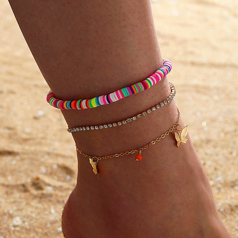 Bohemia Waist Bag Disc Butterfly Three-layer Tassel Anklet  NHGY285714's discount tags