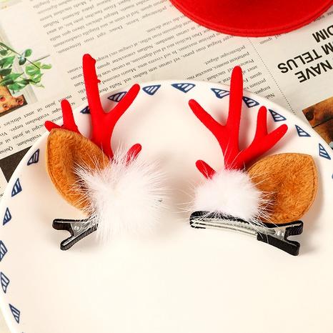 Christmas Cartoon Cute Antlers Hair Clip  NHAU285724's discount tags