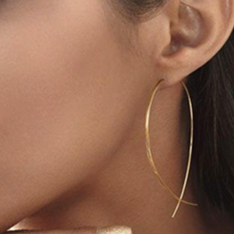 simple copper fish-shaped earrings  NHPF285733
