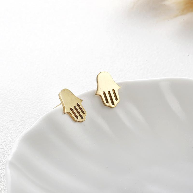 palm cute earrings NHPF285735