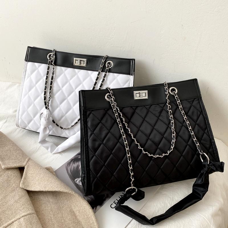 rhombic casual one-shoulder fashion bag NHRU285769