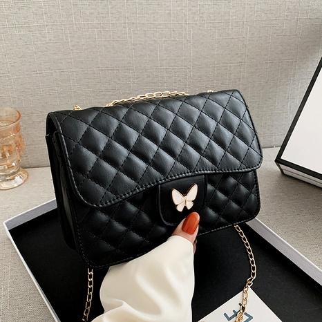 bolso cuadrado pequeño de diamantes de un hombro de mensajero de moda NHRU285770's discount tags