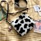 cow pattern fashion single shoulder messenger bag NHRU285776