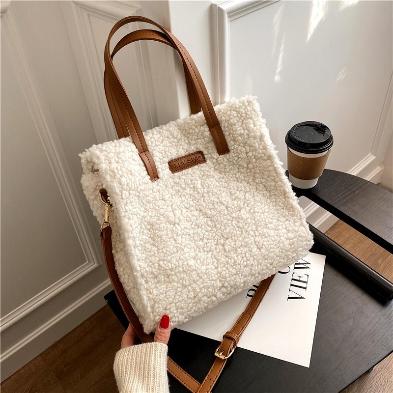 fashion plush large capacity shoulder bag NHJZ285783