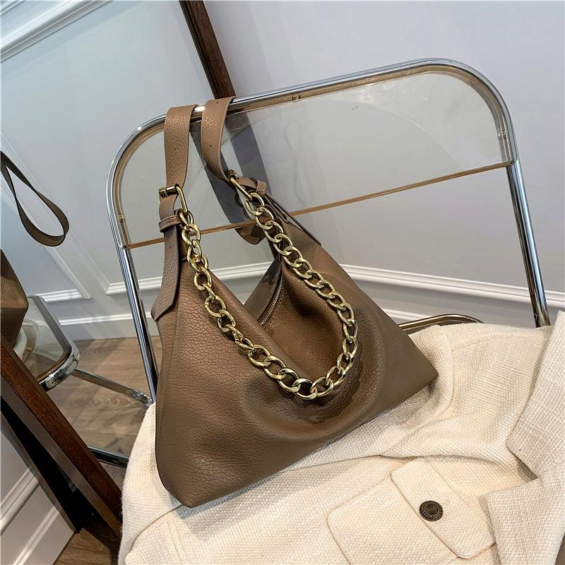 fashion simple soft leather large capacity shoulder bag NHJZ285786