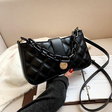 bolso cuadrado pequeño retro del rombo del hombro de la moda NHJZ285811's discount tags