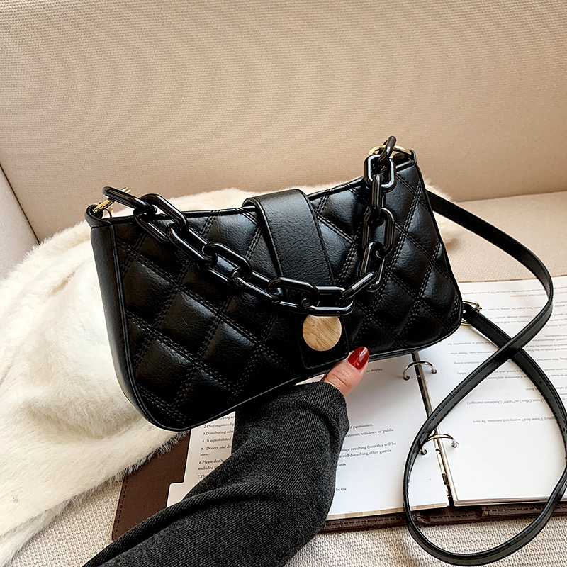 fashion shoulder rhombus retro small square bag NHJZ285811