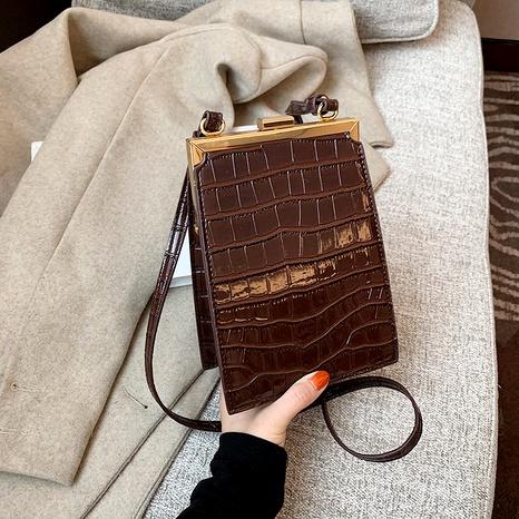 bolso cuadrado pequeño con estampado de cocodrilo de moda retro NHJZ285818's discount tags