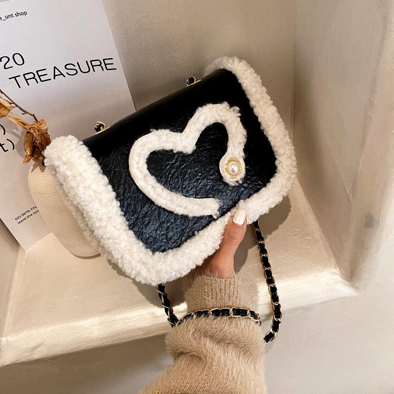 fashion furry small round bag NHJZ285829