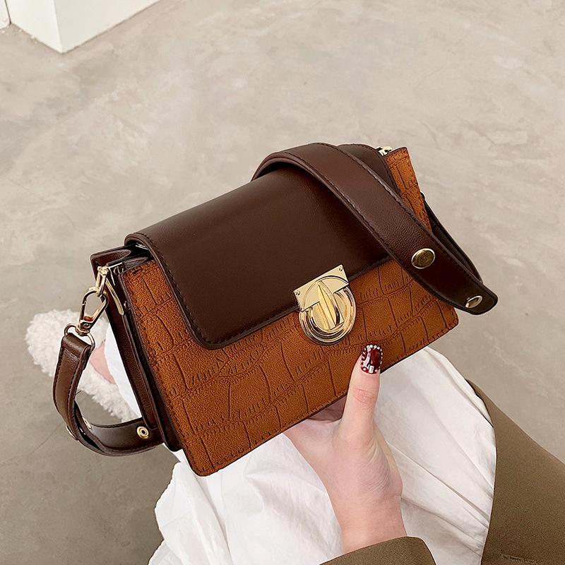 Retro fashion casual one shoulder messenger bag NHJZ285835