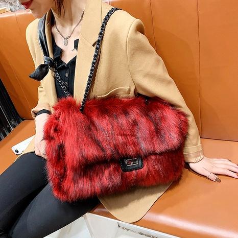 big simple plush shoulder messenger bag NHGA285906's discount tags