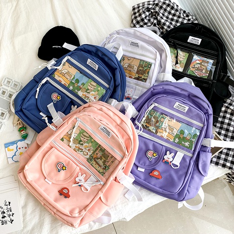 cute transparent funny soft backpack NHHX285965's discount tags