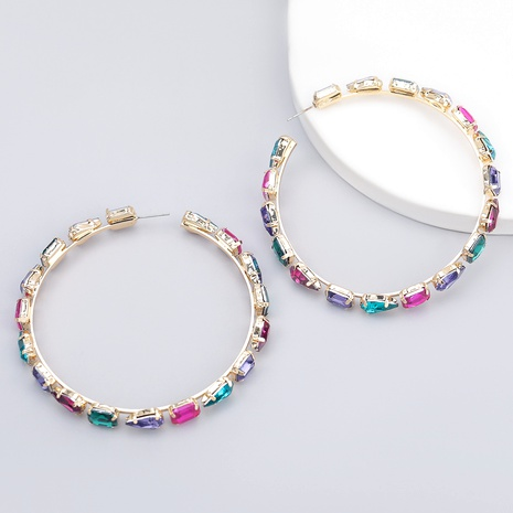 fashion alloy full diamond willow-shaped glass earrings  NHJE286077's discount tags