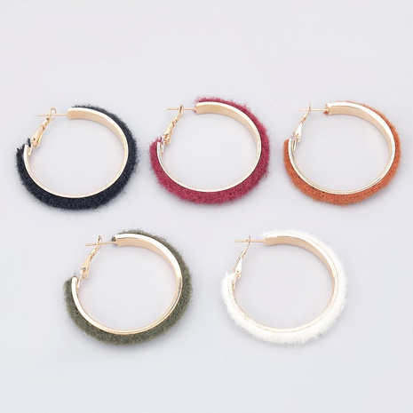 retro alloy flannel big circle earrings  NHJE286089's discount tags