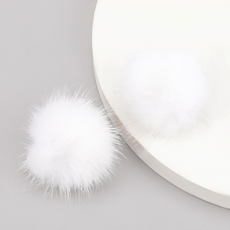 alloy hair ball feather earrings NHJE286086's discount tags