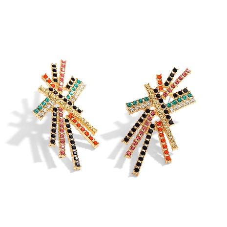 full diamond big earrings  NHJQ286117's discount tags